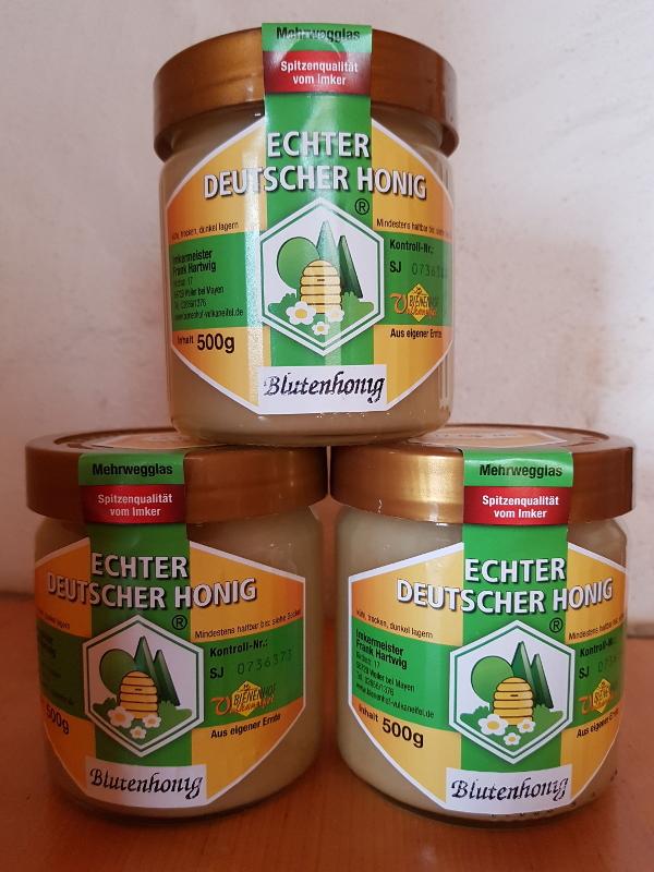 Honigglas des deutschen Imkerbundes